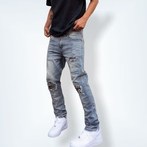 Y&R YOUNG & RECKLESS REVOLT DENIM JEANS - INDIGO